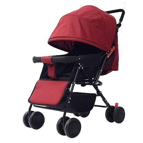 GWM Carro del bebé, el cochecito de niños plegable de la carretilla ...