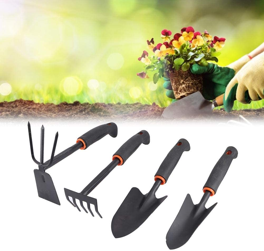 BiuZi 4-teilig//Set Eisen Gartenwerkzeug und Kunststoffverdickter Gartenschaufel-Rechenwerkzeug-Set Hausgartenzubeh/ör f/ür das Pflanzen von Blumen