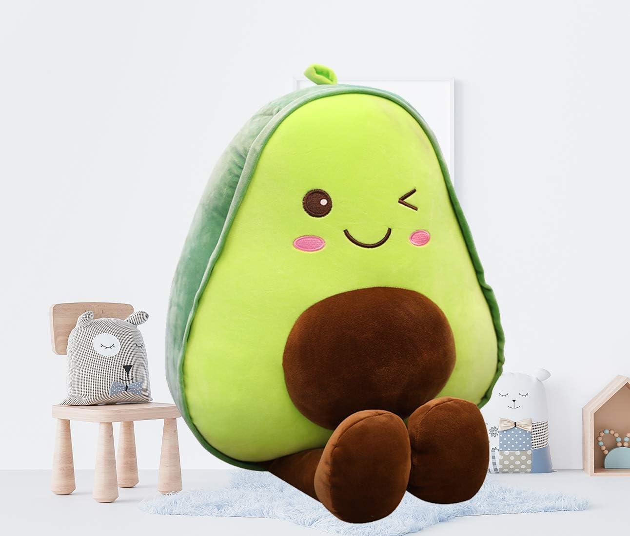 "11.8"" Avocado Plush Cute Stuffed Plush Toy Fruit Shaped Food Pillow Soft HuggingKawaii Pillow Gifts for Kids, Girl, Boy, Friends Bedding,Office,Bedroom,Sofa,Christmas"