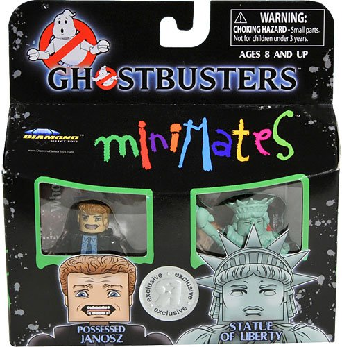 Ghostbusters Exclusive Minimates Mini Figure 2Pack Possessed Janosz and the Statue of Liberty
