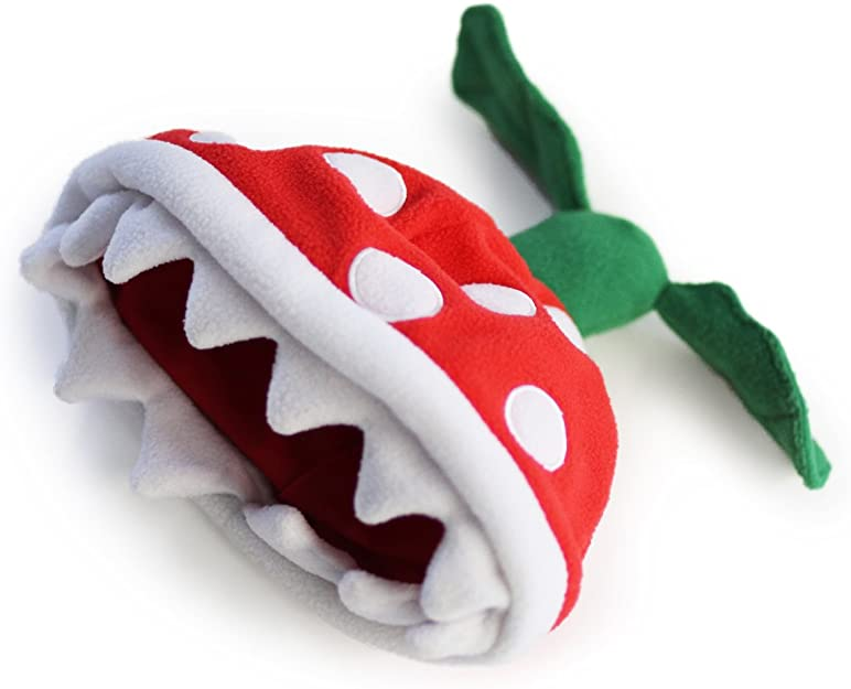 Piranha plant Super Mario beanie for adults