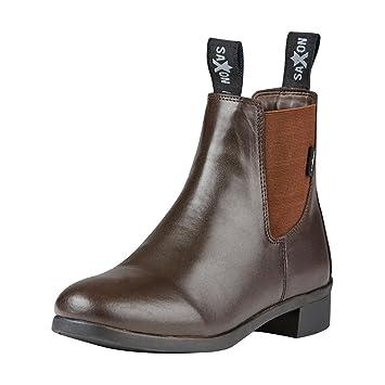 Saxon Syntovia adultes Cheval Boots d'équitation–Noir, noir