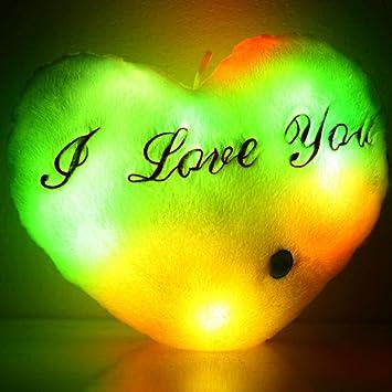 Amazon.com: highpot lindo corazón Glow LED luz suave de ...