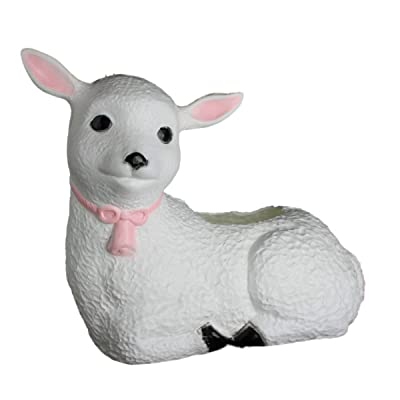 Plastic Lamb Planter: Classic Union Products Yard Decoration - Made in the USA! : Plastic Swan Planters : Garden & Outdoor
