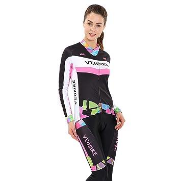 Beydodo Ropa Deportiva Conjunto Mujer Maillot Ciclismo Traje ...