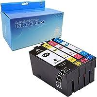 YRSINK Compatible Ink Remanufactured 702 702XL Ink Cartridges Color Set Use for for Workforce Pro WF-3720 WF-3725 All-in…