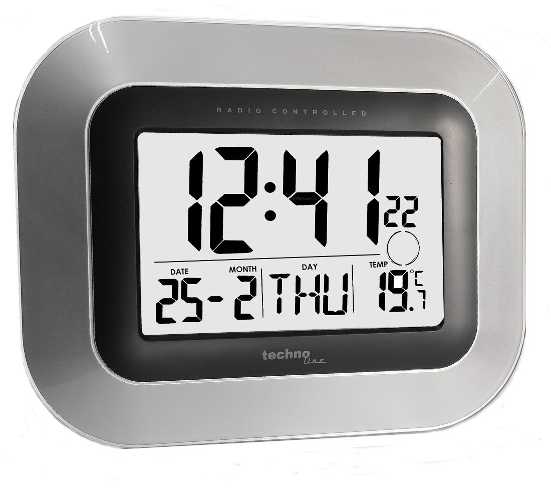 Jumbo lcd radio controlled digital wall clock technoline ws 8005 jumbo lcd radio controlled digital wall clock technoline ws 8005 m amazon kitchen home amipublicfo Choice Image