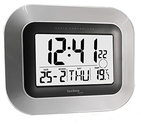Jumbo LCD Radio Controlled Digital Wall Clock Technoline WS 8005 M