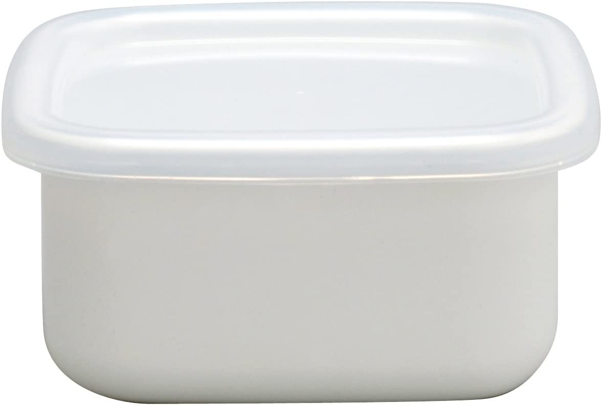 Noda Horo White Enamel Stockpot Food Container (S) Imported from Japan