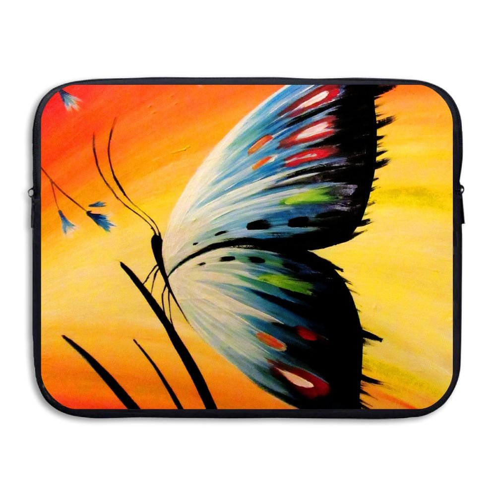 Mr.Roadman Laptop Sleeve Bag Butterfly Colorful Pattern Painting Love Briefcase Sleeve Bags Cover Computer Liner Case Waterproof Computer Portable Bags