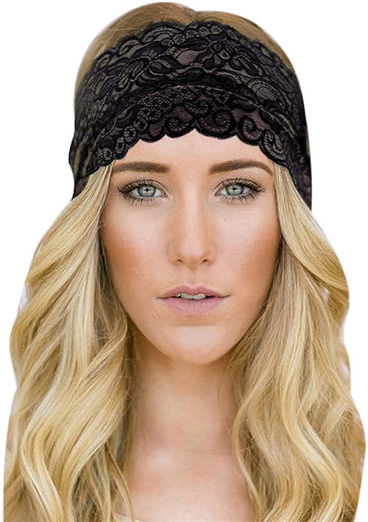 Dicomi Damen Haarband Sport Frauen Haarband Spitze Sport Yoga Schwei/ßband Gym Stretch Stirnband