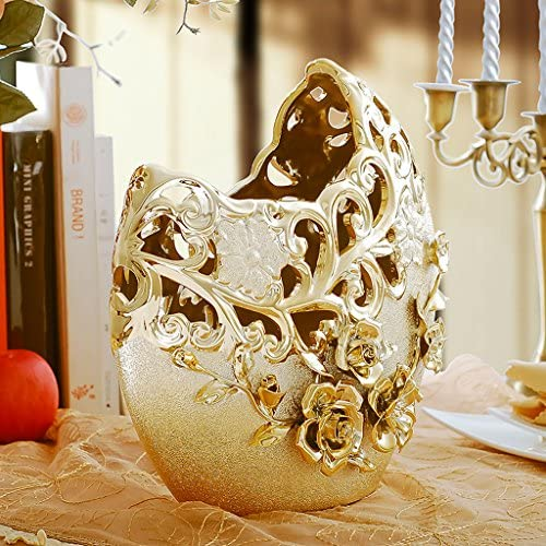 European outline in gold vase Home Decoration Wine cabinet decorations indoor living room coffee table TV cabinet office desk Wedding Gifts