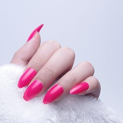 24pcs 12 diferentes tamaño Navidad sólido rojo Color Simple Stiletto Media funda de Full diseño de