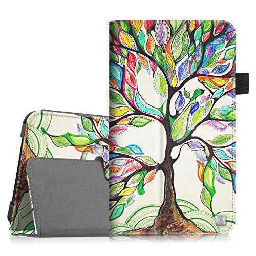 Fintie Samsung Galaxy Tab E Lite / Tab 3 Lite 7.0 Case - Slim Fit Folio Stand Leather Cover for Galaxy Tab E Lite SM-T113 / Tab 3 Lite 7.0 SM-T110 / SM-T111 7-Inch Tablet, Love Tree