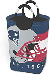 GAJzuiajg New England Patriots Laundry Basket for Dirty Clothes, Oxford Cloth Collection Bucket, Used for Toy Collection Bedroom Decoration,Waterproof Collapsible Laundry Basket