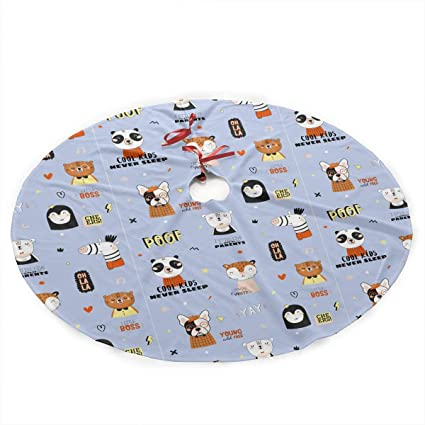 Amazon Com Shusqun Funny Animals Christmas Tree Skirt 35 5 Inches
