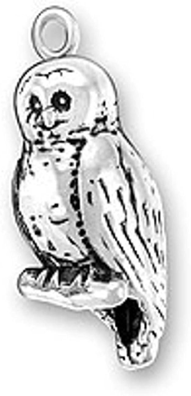 BARN OWL TWIT TWOO CHARM NECKLACE SILVER ACORN FEATHER LEAF PENDANT BIRD NIGHT