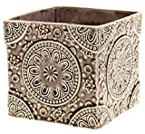 Cheap 6″ Ceramic 'Medallion' Cube Pot – Taupe