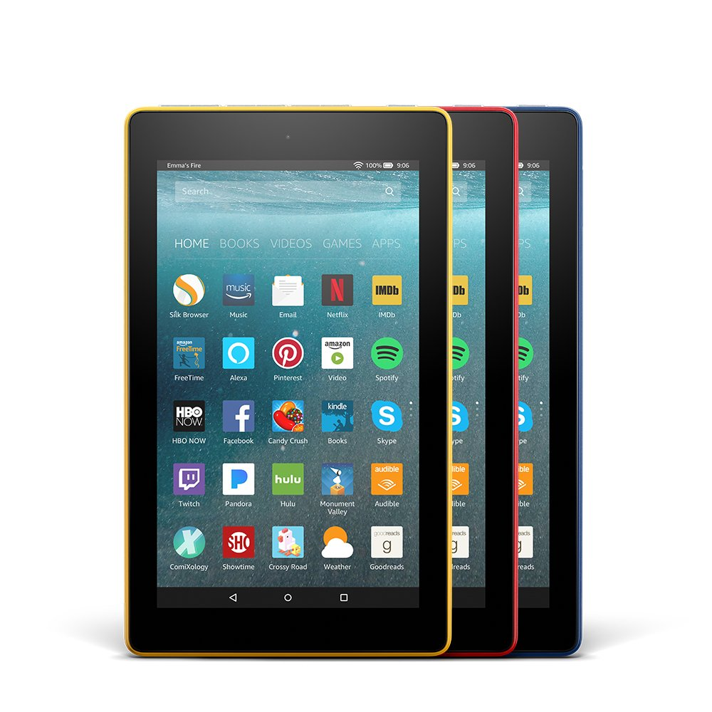 Amazon.com: Fire 7 Variety Pack, 8GB - Includes Special Offers  (Blue/Red/Yellow): Kindle Store