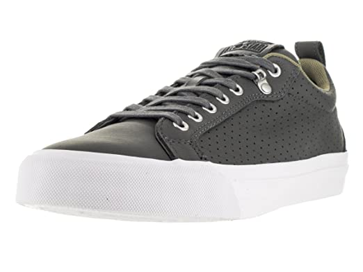 Converse Fulton Thunder Grey Leather Trainers UK 8  Amazon.co.uk ... 12be33eae