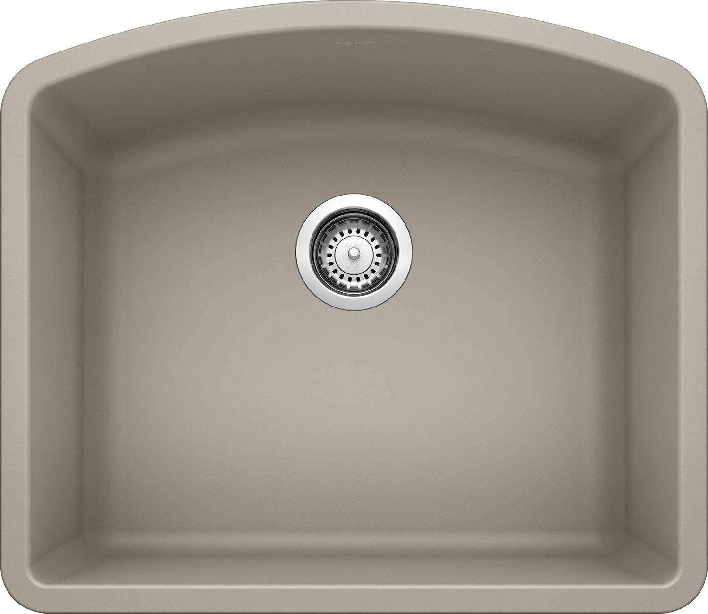 BLANCO 441281 DIAMOND SILGRANIT, Truffle, 24.06 L X 20.81 W X 10 D Undermount Bar Sink, 31.00 x 27.00 x 16.00