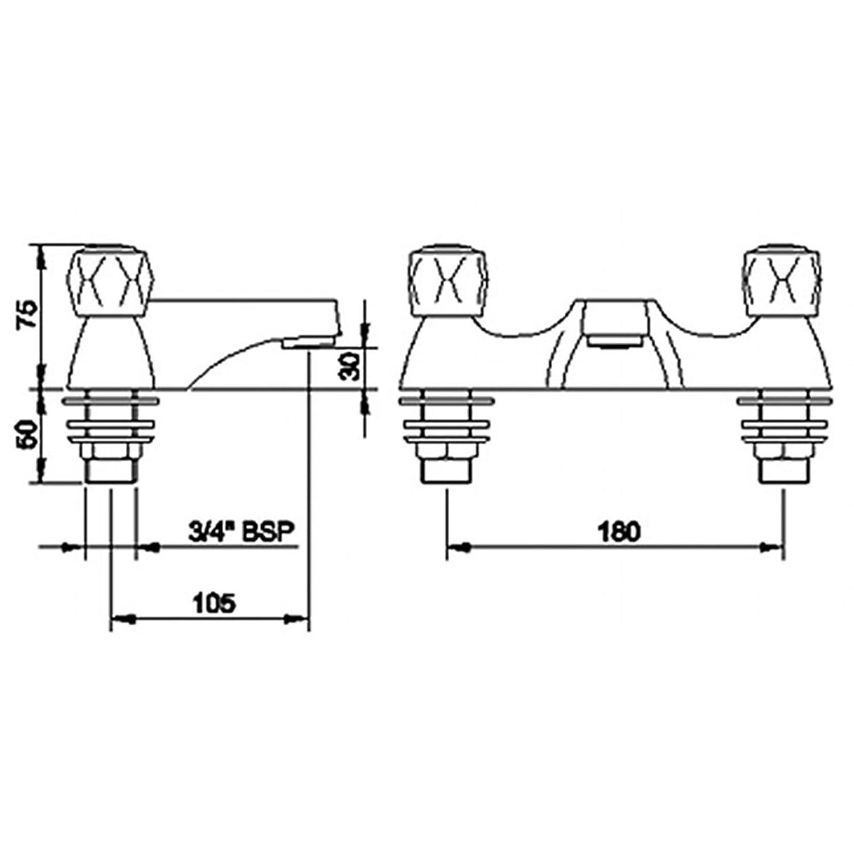 enki deck mount bath filler tap shower mixer bathroom low pressure enki deck mount bath filler tap shower mixer bathroom low pressure modern richmond amazon co uk diy tools