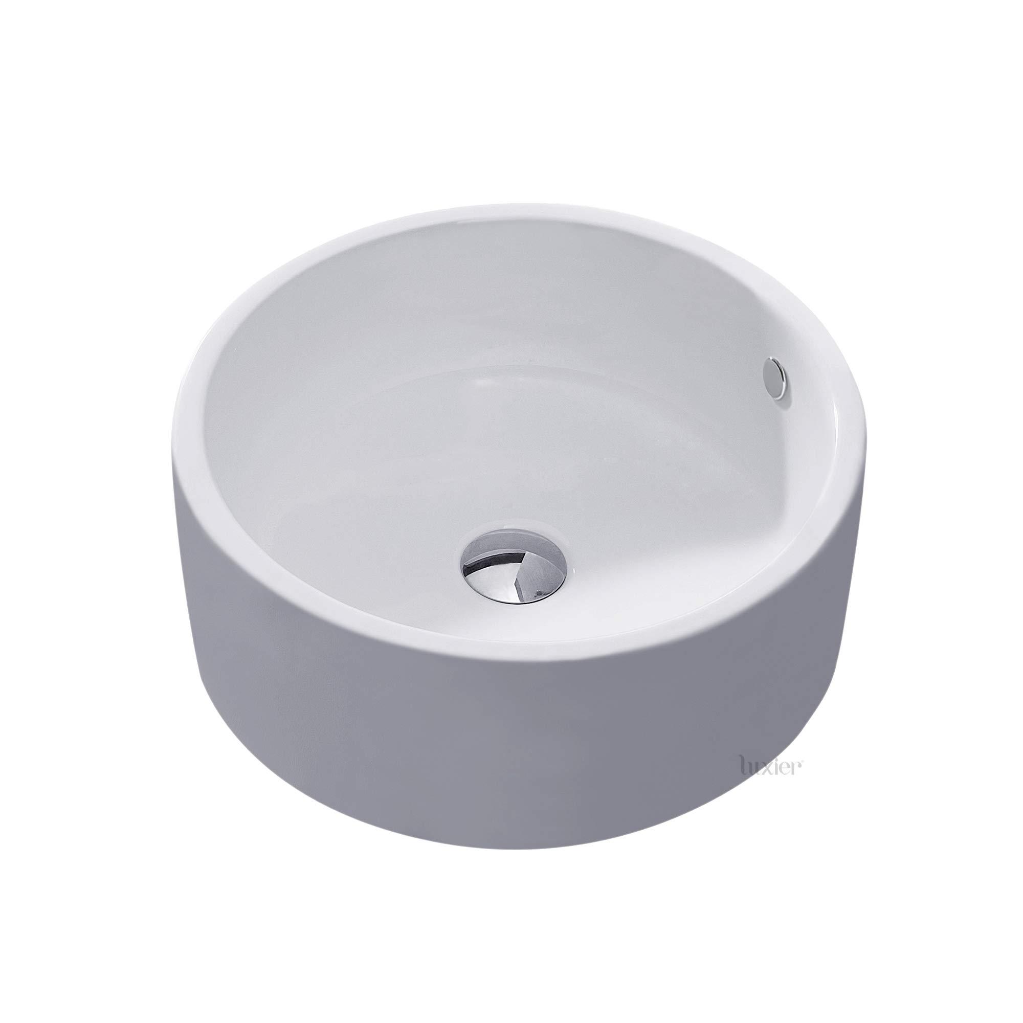 Luxier CS-008 Bathroom Porcelain Ceramic Vessel Vanity Sink Art Basin