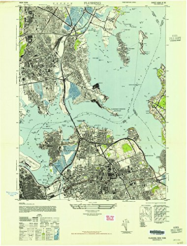 New York Maps | 1947 Flushing, NY USGS Historical Topographic Map | Fine Art Cartography Reproduction - Map Ny Flushing