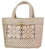 Knitting kit petal flower motif bag