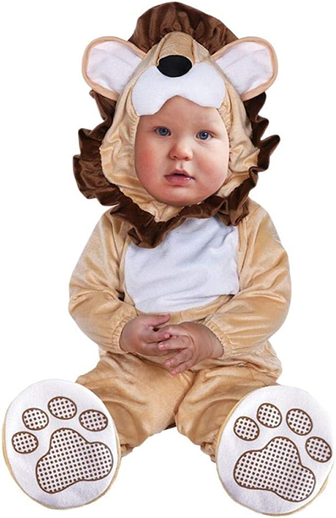 LYINHGL Bebé Disfraz de Halloween Primavera Otoño León Mono Panda ...