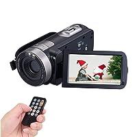 Caméscope Caméra Full HD 1080p 24.0MP Caméra Vidéo Webcam 16x Zoom Numérique Caméra 3 Pouces Écran HDMI Sortie avec Télécommande