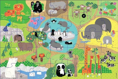 Innovative Kids Green Start Giant Floor At The Zoo Puzzle (35 Piece)