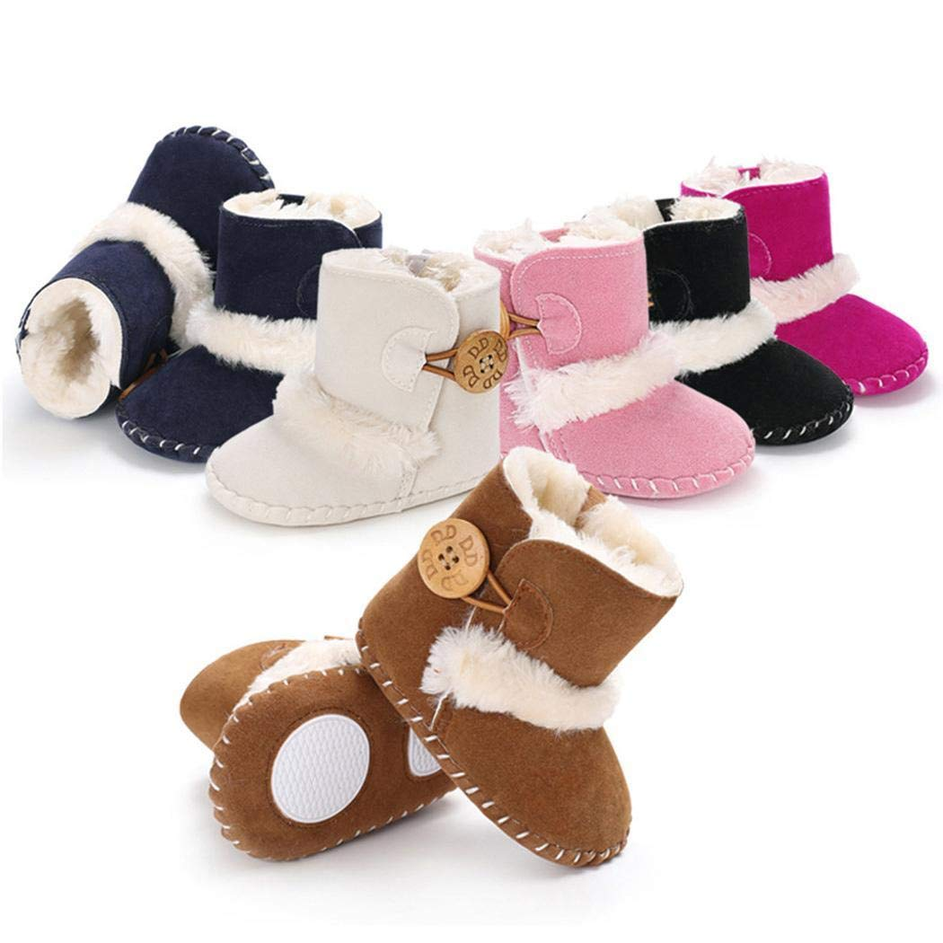Toddler Snow Boots Baby Infant Winter Warm Bootie Anti-Slip Kids Newborn First Walker Outdoor Shoes for Girls Boys by Movements