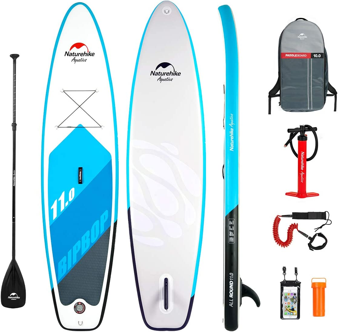 Naturehike Inflatable Stand Up Paddle Board (5/6 Inches Thick) with Premium SUP Accessories & Carry Bag | Wide Stance, Bottom Fin for Paddling, Surf ...