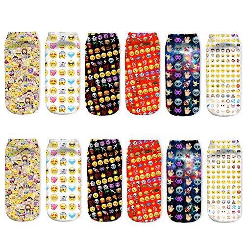 Emoji Socks Teens 6 pairs
