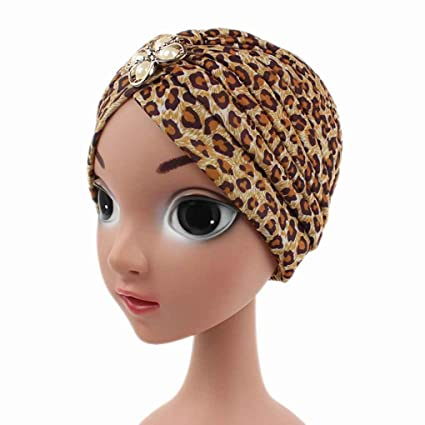Bobury Girls India Hat Turban Cap Beanie Hat Caps Head Cover Niños Kids Dome Hats