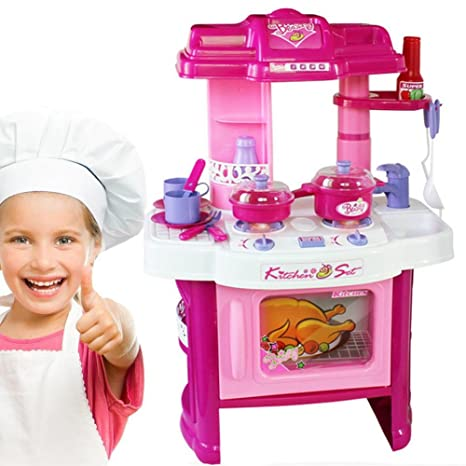 BAKAJI Cucina Per Bambine Giocattolo Tantissimi Accessori Con ...