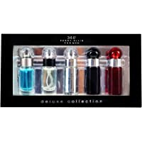 Set Mini 5 Pzas Perry Ellis For Men 360 7.5 ml + Reserve 7.5 ml + 360 Red 7.5 ml + 360 Collection 7.5 ml + 360 Black 7.5 ml de Perry Ellis