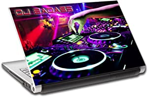 DJ Turn Tables Music Personalized LAPTOP Skin Decal Vinyl Sticker ANY NAME L737, 12""