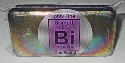 amazon com fine 999 pure metalic bismuth bar weighs one pound