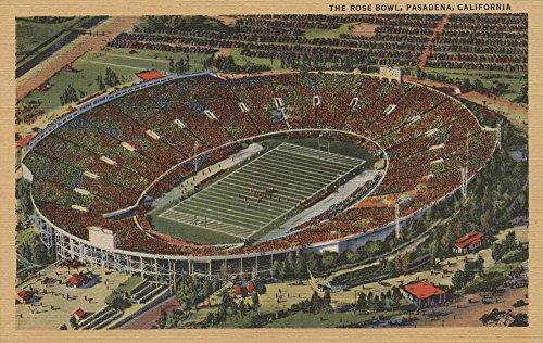 Pasadena, California - The Rose Bowl Stadium from Air (9x12 Art Print, Wall Decor Travel Poster)