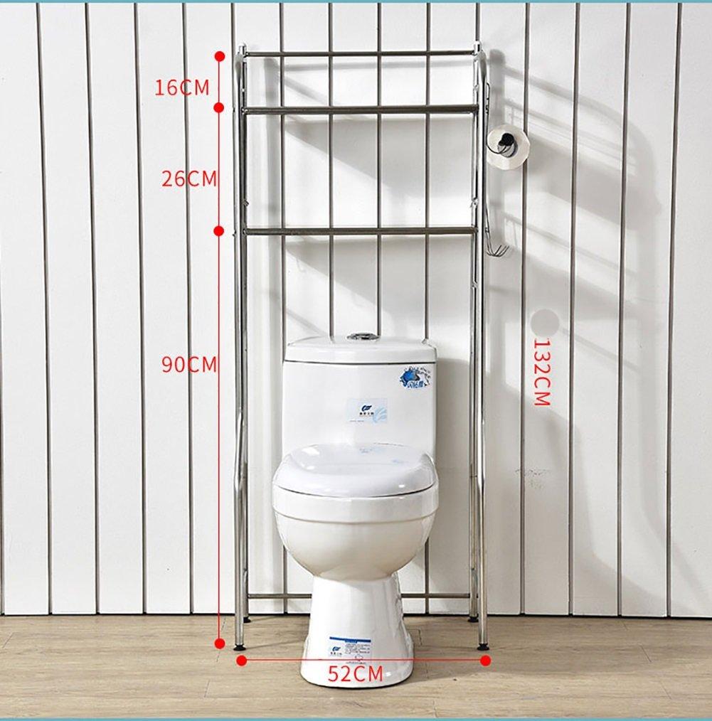 Étagère de toilette multifonctions étagère de lavabo étagère de rangement avec porte-papier ( taille : Double layers