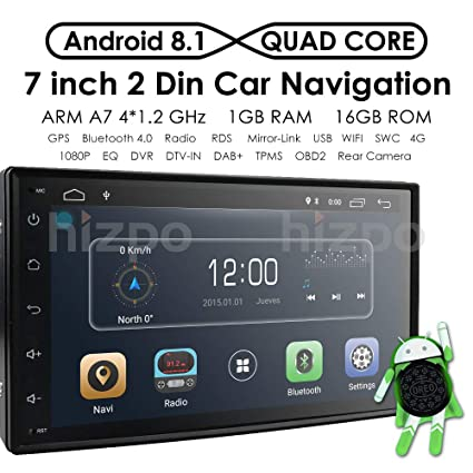 Amazon Com Hizpo Double Din Car Stereo Android 8 1 In Dash 7 Inch Images, Photos, Reviews