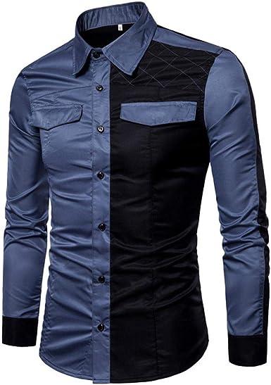 FAMILIZO Camisas Hombre Manga Larga Slim Fit Camisas Hombre Lino Camisas Hombre Originales Negocio Tops Blusa Hombre Blanca Otoño Moda Cuadros Business Casual Formal Slim Button-Down Ajustado: Amazon.es: Ropa y accesorios