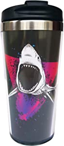 Wodealmug Women's Shark Travel Coffee Mug Thermal Insulated Tumbler Cup With Lid 14 OZ
