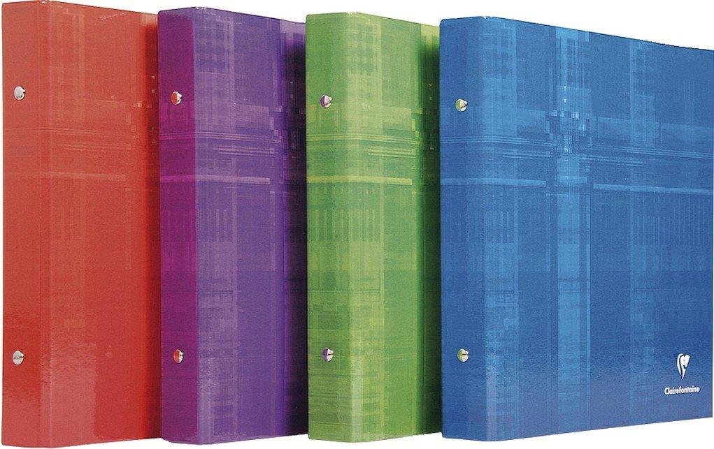 Clairefontaine archivador de 2 anillas, color color aleatorio: Amazon.es: Oficina y papelería