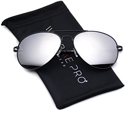 aviator mirror sunglasses  Amazon.com: Aviator Full Silver Mirror Metal Frame Sunglasses ...