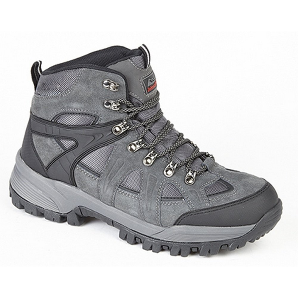 Johnscliffe Boys Andes Hiking Boots (4.5 US) (Charcoal Grey)