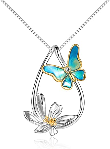 Butterfly Necklace Butterfly Jewelry Butterfly Charm Necklace Silver Butterfly Necklace Necklaces For Women Butterfly Wing Necklace