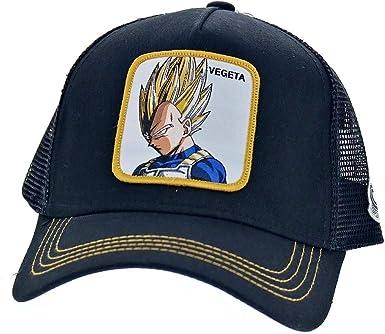 Capslab Gorra Trucker Negra Vegeta Super Saiyan VE4 Dragon Ball ...